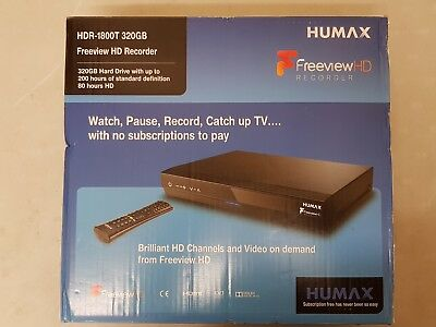 Humax HDR-1800T Freeview+ HD Digital TV Recorder 320GB Capacity Twin Tuner