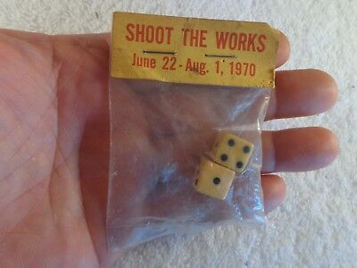 Vintage Advertising Dice ARMOUR MiraCure Bacon Collectible