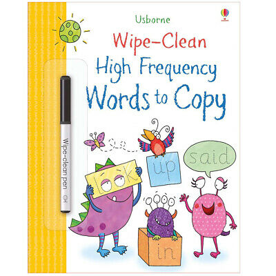 Usborne Wipe-Clean High Frequency Words To Copy - Children's Reading & Writing