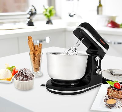 Stand Mixer Blender Food Processor 3.5L Bowl Whisk Beaters Dough Hooks Body S-S