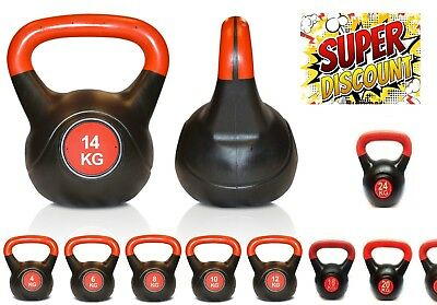 Kettlebell  VINYL2KG.To.18KG.22KG.24KG Home Gym Fitness Workout Weight loss