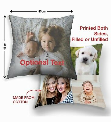 Personalised Children Cushions Printed Photo Child Kids Boy Girl New Born Gifts