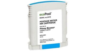 Clover Remanufactured Postage Meter Cyan Ink Cartridge for Pitney Bowes 787 D