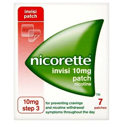 Nicorette Invisi Patch Nicotine Step 3 - 10mg 7 Patches UK Seller Free P&P