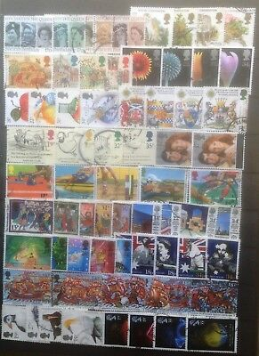GB 16 Complete used COMMEMORATIVE SETS off paper 66 stamps 1986-1989