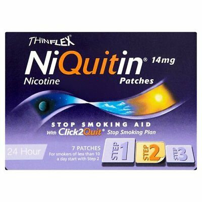 NIQUITIN THINFLEX PATCHES 14mg STEP 2 -  7 PATCHES Best Price Free P&P UK