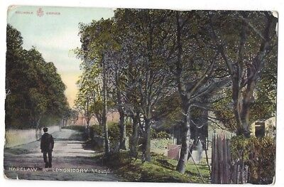 LONGNIDDRY Harelaw Road, Reliable Series Postcard Postmarked Longniddry 1908