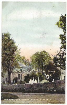 BEARSDEN New Kilpatrick Parish Church, Old Postcard by Gillies Posted 1908