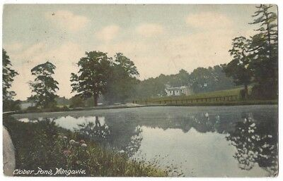 MILNGAVIE Clober Pond, Old Postcard Published by Weir, Unposted