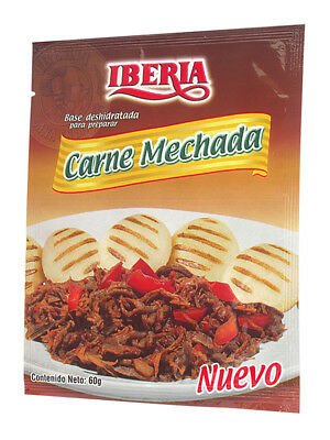 Iberia Carne Mechada Seasoning - 12 Packet Box | Shredded Beef Seasoning