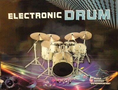 Portable Electronic Roll Up Drum Pad Kit Pad Kit With 2 Sticks And Speaker