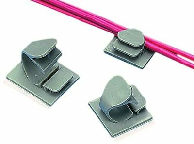 Panduit LWC19-A-C20 Latching Wire Clip, Nylon 6.6, Rubber Adhesive Mounting Meth