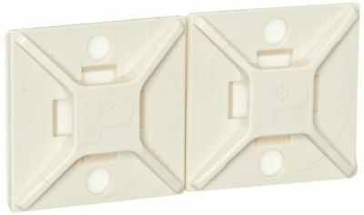 Panduit ABM2S-A-C15 Adhesive Backed Cable Tie Mount, 4-Way Mount, Pre-Installed