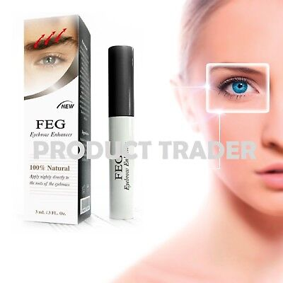 FEG Original 3ml Eyebrow Enhancer Brush Rapid Growth Serum Liquid EyeLash Oil
