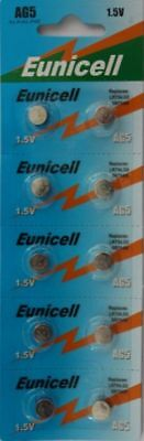 20 Eunicell AG5 LR48, G5A, LR754, LR750, L754, 393A Button/Coin Alkaline Battery
