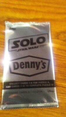 Disney solo a star wars story sealed pack trading cards dennys exclusive rare