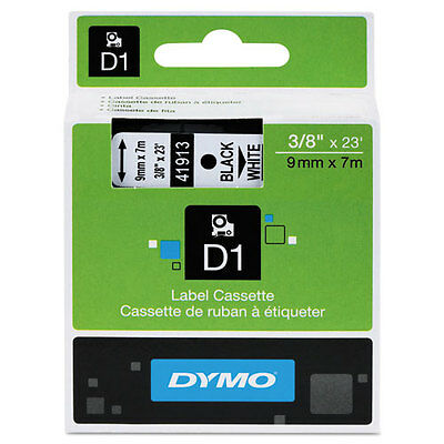 "Dymo 3/8"" (9mm) Black on White Label Tape for LabelWriter Duo LWDuo, LW Duo"