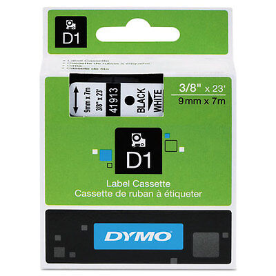 "Dymo 3/8"" (9mm) Black on White Label Tape for LabelManager 220P LM220P, LM 220P"