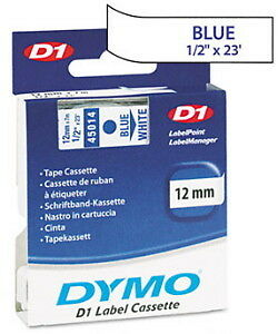 """Dymo 1/2"""" (12mm) Blue on White Label Tape for LabelManager 350 LM350, LM 350"""