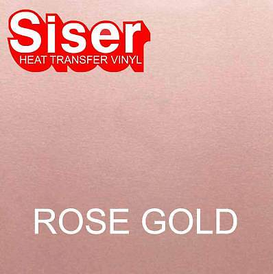 "15"" x 5 ft roll - Rose Gold - SISER Easyweed Heat Transfer Vinyl Iron On HTV"