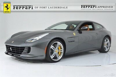 Ferrari GTC4Lusso V12 AWD Certified CPO Carbon Fiber LED Shields 20 Forged Passenger Display Yellow Calipers Stitching