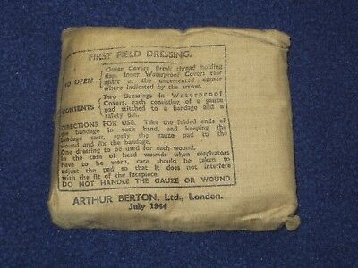 Un Issued Ww2 Wwii Great Britain First Field Dressing July 1944