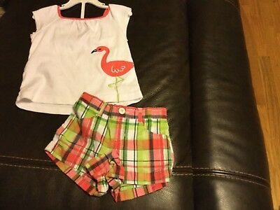 "Girls Gymboree outlet outfit size 3T ""Palm Beach Paradise"" w/flamingo"