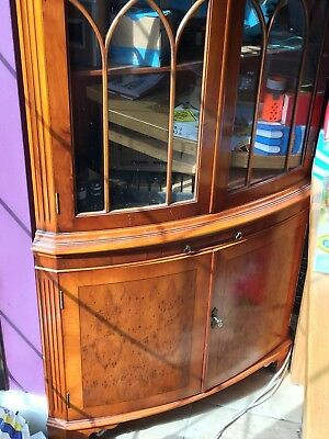 Bevan Funnell Bow front Corner Cabinet , Side Table and Nest Of Tables in Walnut