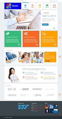 Responsive Wordpress theme + Free install (Incl. Demo Content) + 1 Month Hosting