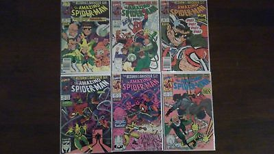 The Amazing Spider-Man COMPLETE Set Lot # 334-339, Return Of The Sinister Six NM