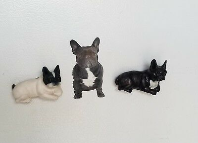 Lot Of 3 French Bulldog Magnets