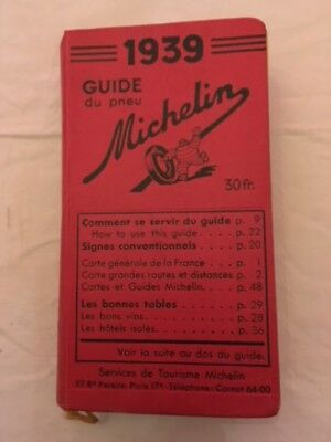 Guide Michelin France 1939