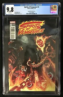 Spirits of Vengeance #2 CGC 9.8 (Pop. 1!!!) Camuncoli 1:25 Incentive Variant!