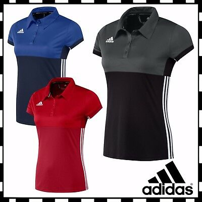 New Adidas T16 Womens Polo Tee T Shirt Sports Ladies Hockey Training Top £40