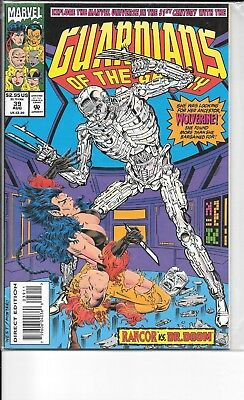 Embossed holo foil Marvel Comics 1993 Wolverine GUARDIANS OF THE GALAXY #39 NM
