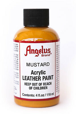 Angelus Brand Acrylic Leather Paint Waterproof Mustard - 4.oz