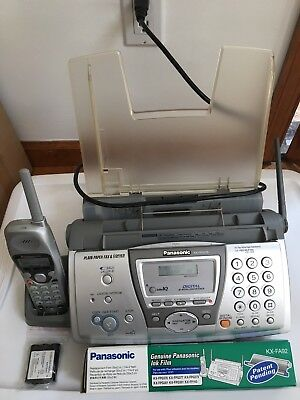 Panasonic KX-FPG376 2.4 GHz Digital cordless answering system & fax w/ 2 films