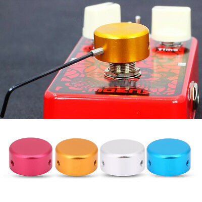 Electric Guitar Nail Effect Cap Step Pedal Foot Switch Knob Protector Aluminum
