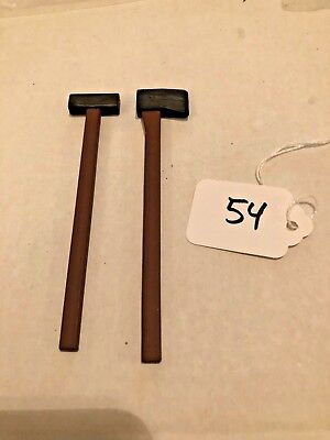 """1:6 lot of 2 Long Sledgehammer n Axe for WW2 12"""" Soldier or Jeep Dragon #54"""