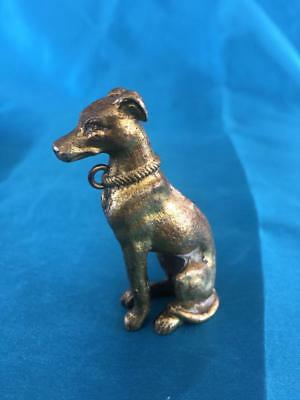 Fine Vintage Cold Painted Bronze Whippet Figure ~ Beautiful Detail..