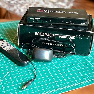 Monoprice 5x1 HDMI Switcher with Built-In Equalizer & Remote (HDX-501)