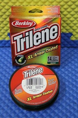Berkley Trilene XL Armor Coated Line 14 lb 220 yd GREEN  XLACFS14-22
