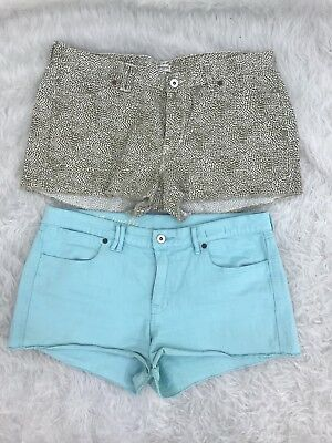 Madewell Bundle Of Two Womens Cut Off Mini Casual Short Shorts Size 31