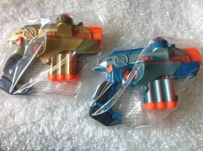 Hasbro Nerf NEW Phoenix LTX Laser Tag Guns -- lot of 2, Gold and Blue REDUCED