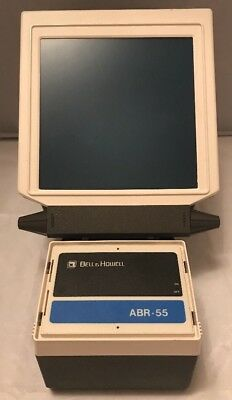 Rare Vintage Bell & Howell ABR-55 Portable Battery Op Microfiche Reader Working