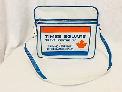 Vintage 1970's Times Square Travel Bag Luggage Carry On