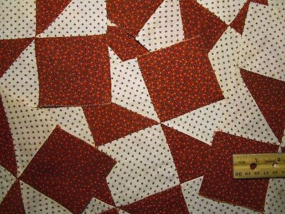 "Antique Quilt Blocks 19c Hand sewn 6 pcs approx. 9"" Quilt"