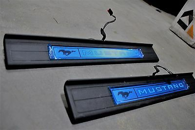 2015 - 2018 Ford Mustang Illuminated LED Door Sill Plates OEM FR3Z-63132A08-AA
