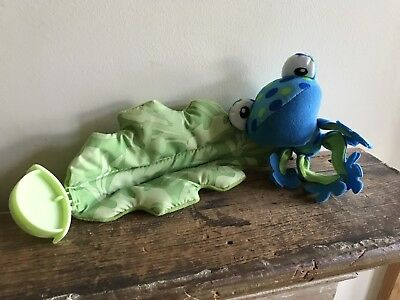 Fisher Price Rainforest Jumperoo Replacement Part BLUE FROG Leaf Plush Toy