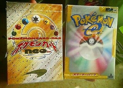 NEO GENESIS & EXPEDITION DECK jap sealed from box no booster pack base set holo